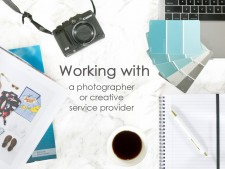 Working with a photographer or creative service provider
